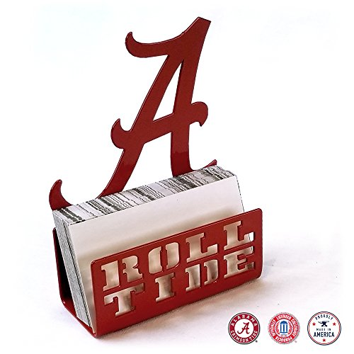 Alabama Crimson Tide Steel Business Card Holder]()