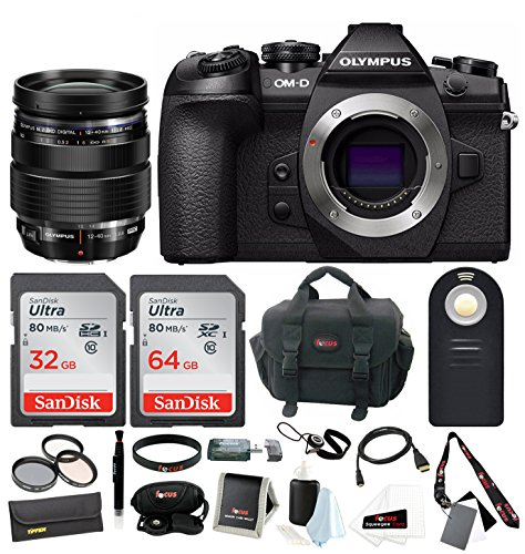 Olympus OM-D E-M1 Mark II Black Body With 12-40 Pro Lens And 96GB Focus KIT