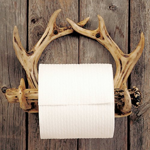 . Pine Bough Toilet Paper Lodge Holder   Cabin Bathroom Decor
