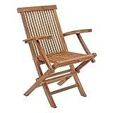 Zuo Regatta Folding Arm Chair, Natural