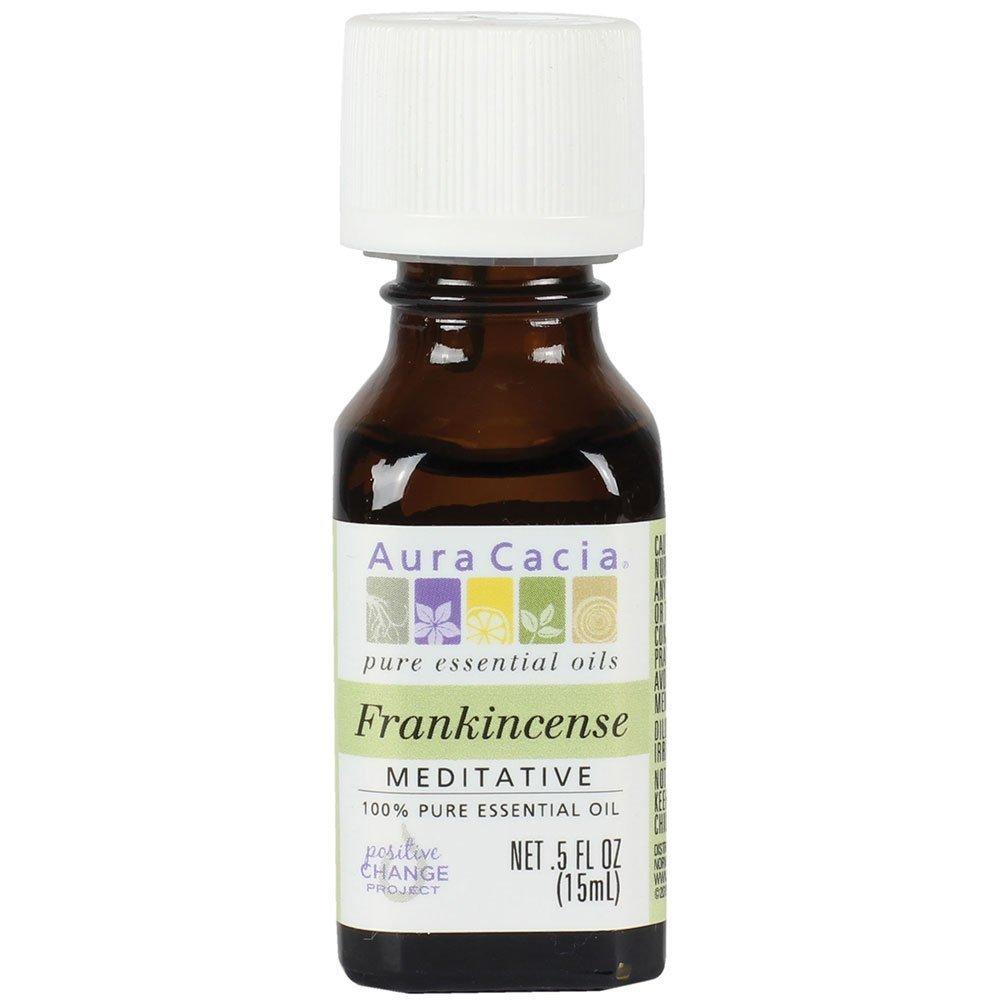 Aura Cacia Essential Oil, Meditative Frankincense, 0.5 fluid ounce