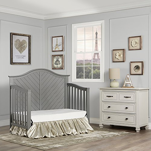 51y6CZgoohL - Dream On Me Ella 5-in-1 Full Size Convertible Crib, Storm Grey