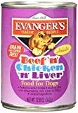 Evangers Classic Recipes Grain Free Beef with Chicken & Liver Canned Dog Food