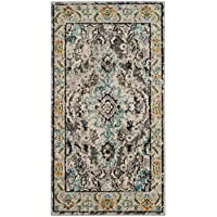 Safavieh Monaco Collection MNC243G Vintage Oriental Grey and Light Blue Distressed Runner (22 x 6)