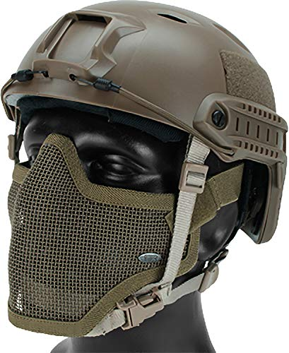 Evike 6mmProShop Bump Type Airsoft-Only Non-Ballistic Head Protection w/Gen.1 Strike Mask (Type: BJ/Advanced/Tan) (Best Airsoft Cqb Loadout)