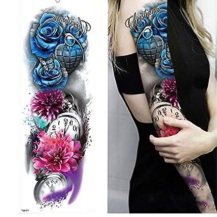 yyyDL Etiqueta engomada del tatuaje temporal Pierna completa del ...