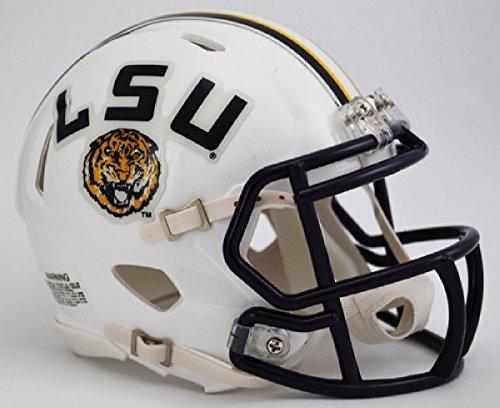 NCAA Louisiana State (LSU) Fighting Tigers White Speed Mini (Lsu Tigers White Helmet)