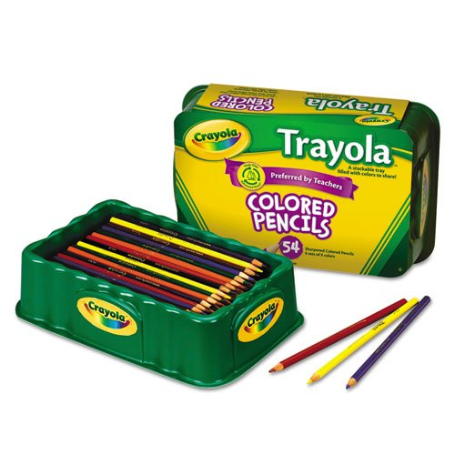 Price comparison product image Crayola Colored Pencils, 54 Count, Vibrant Colors, Pre-sharpened, Art Tools, Great for Adult Coloring; Stackable Tray
