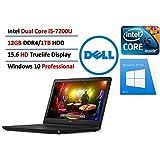 2017 Dell Inspiron 15 5000 15.6 Laptop (7th Generation Intel Core i5-7200U 12GB 1TB) Windows 10 Professional