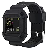 Image of Moretek Blaze Bands, Frame Resilient Rugged Protective Case with Strap Bands for Fitbit Blaze Fitness Smartwatch straps , Smart Watch Accessory Sport Replacement Band
