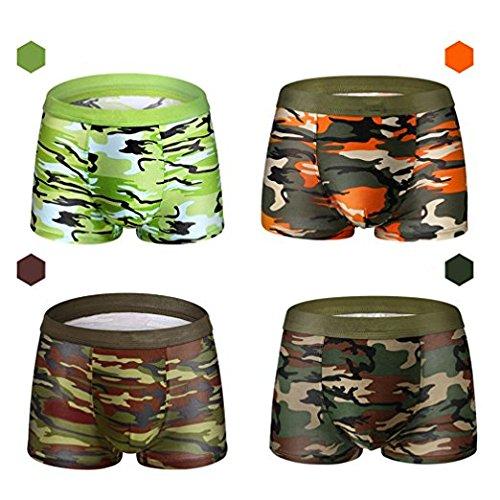 b1ea324611b3d2 Judy Fashion Men's Underwear Cotton 4-Packs(L)-Camouflage Uniforms Boxer  Briefs