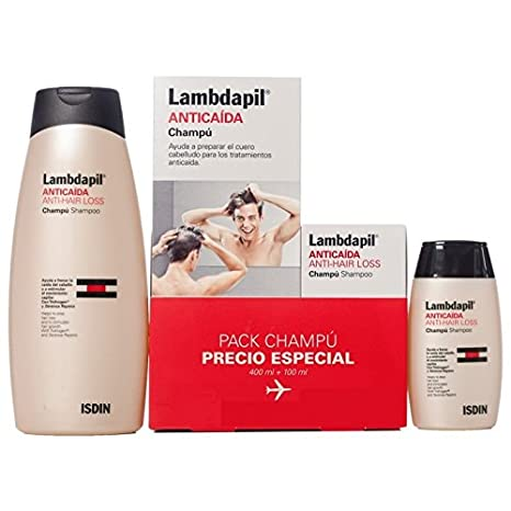 Lambdapil Champú Pack especial viaje 400 + 100 ml