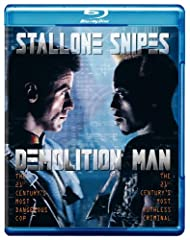 Sylvester Stallone and Wesley Snipes go at it amid a dazzling cyber-future in this explosive hit. In 2032 archcriminal Simon Phoenix (Snipes) awakens from a 35-year deep freeze in CryoPrision to find a serene, non-violent Los Angeles ready fo...