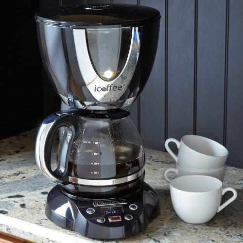 iCoffee Black & Chrome Coffeemaker RCB100 BC12