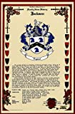 Ardente Coat of Arms, Family Crest and Name History - Celebration Scroll 11x17 Portrait - Italy Origin