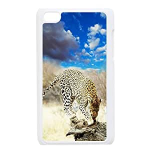Ipod Touch 4 The plum flower leopard Phone Back Case DIY Art Print Design Hard Shell Protection DF013135