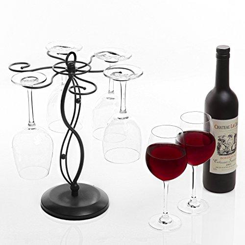 Wine Glass Rack Air Drying Metal Freestanding Tabletop