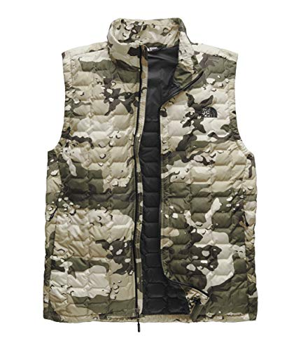- The North Face Men's Thermoball Vest Peyote Beige Woodchip Camo Print X-Large