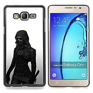 """Qstar Arte & diseño plástico duro Fundas Cover Cubre Hard Case Cover para Samsung Galaxy On7 O7 (Oscuro Goth Mujer"""")"""