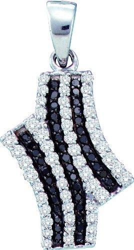 10 k or blanc diamant Fashion 0,47 Dwt-Pendentif or de haute qualité Or 9 Carats JewelryWeb