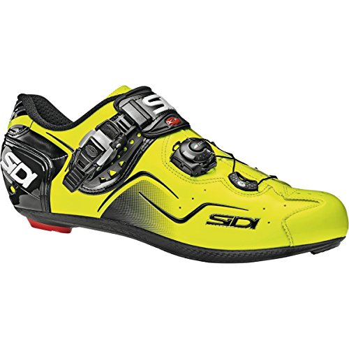 人工的なバーチャル判決(シディ) Sidi Kaos Carbon Shoes メンズ ロードバイクシューズYellow Fluo [並行輸入品]