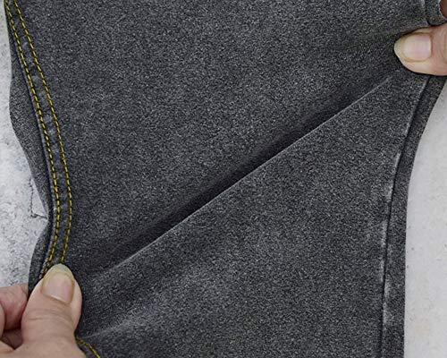Jeans Cintura Gris de Pantalones Pantalon Mujer de Skinny Lápiz Baja Leggings Vaqueros Elásticos XF7A8qw