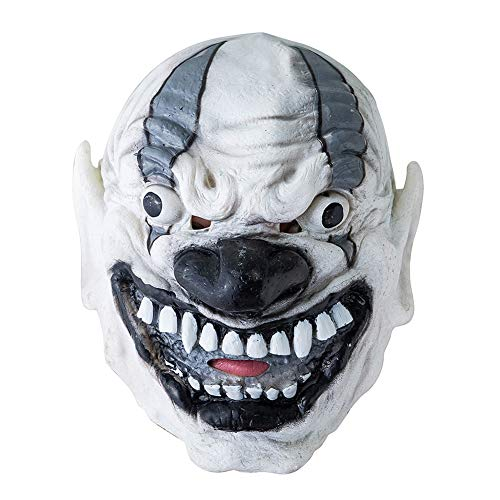 856store - Realistic Halloween suppliesHalloween Scary Disgusting Vinyl Ghost Big Mouth Teeth Mask Costume Party Props - -