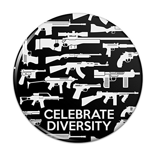 Guns Weapons Rifles Celebrate Diversity Second 2nd Amendment Pinback Button Pin Badge - 1