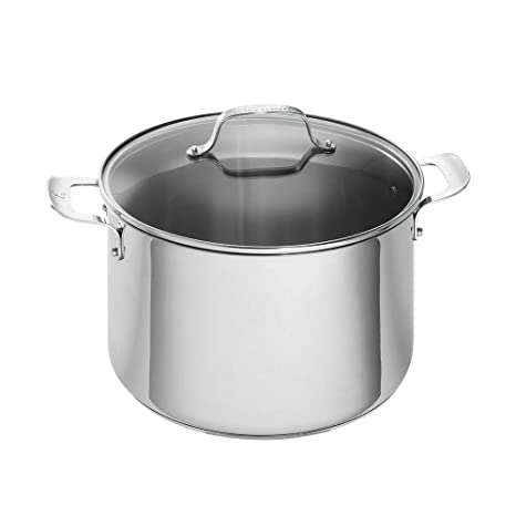 Amazon.com: Emeril Lagasse Olla de acero inoxidable con tapa ...