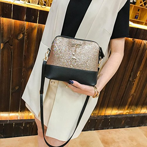 Messenger Pocket Shoulder Gold Lady Bag Zip Square Crossbody Bag Tote Elegant Women Shoulder TOOPOOT Sequins Pqazwgaf0