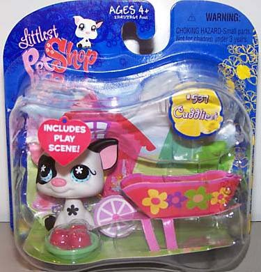 Littlest Pet Shop Exclusive Single Pack Black and White Pig [Apples & -