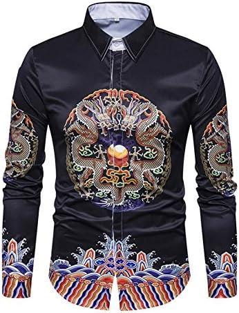Mens shirts Camisa de Manga Larga con Diseño de Flor Rota Estilo Nuevo para Hombre Estilo Antiguo Camiseta de Manga Larga, Picture Color, X-Large: Amazon.es: Deportes y aire libre