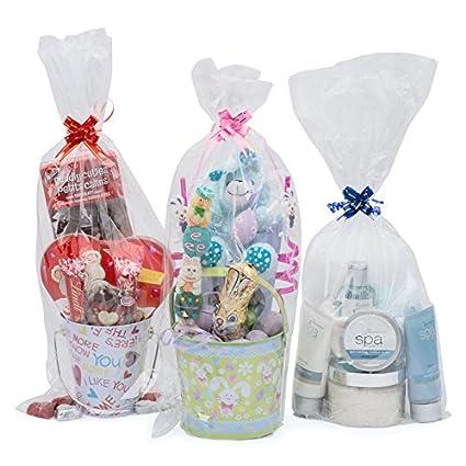 Life Solutions Products LSP – 12 bolsas de celofán para cesta de regalo – para embalaje de regalo y fabricación de cesta – 22,8 cm de ancho x 50,8 cm ...