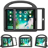 Surom Kids Case New iPad 9.7 2018/2017 Built-in Screen Protector, Light Weight Shock Proof Handle Stand Kids Case iPad 9.7 2017/2018 iPad Air/iPad Air 2/iPad Pro 9.7 - Black