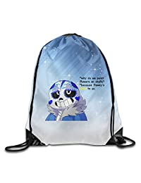 Undertale Viideo Game Drawstring Backpack Bag White