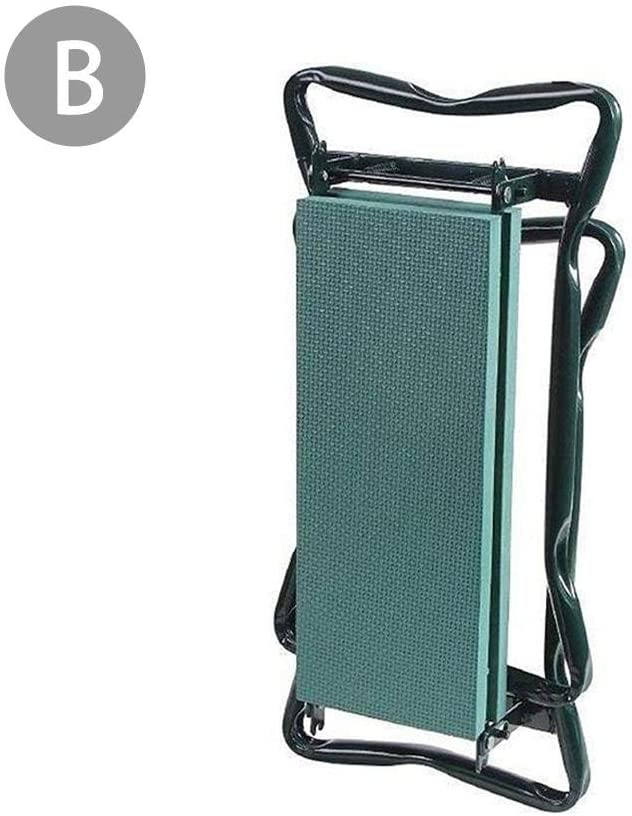 Foldable Garden Mattress and Cushion Cloth Bag Garden Folding Stool Folding Belt Kit Garden Bench with Small Cloth Bag