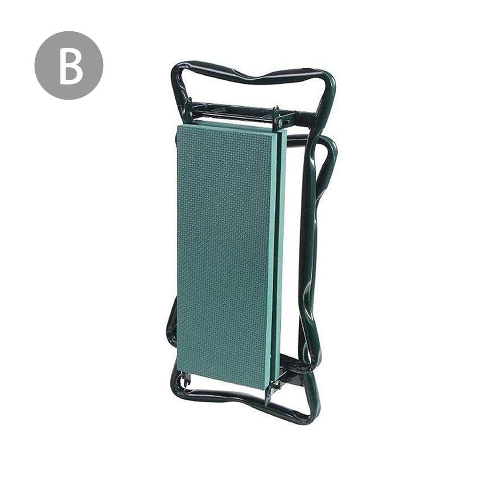 Glossrise Garden Kneeler and Seat - Protects Your Knees, Foldable Stool for Ease of Storage - EVA Foam Pad