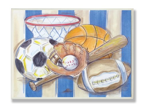 the-kids-room-by-stupell-blue-and-white-striped-multi-sport-rectangle-wall-plaque