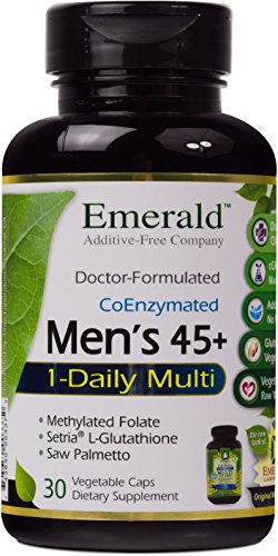 Coq10 30 Capsules (Emerald Laboratories - Men's 45+ 1-Daily Multi - Multivitamin with Clinical-Potency CoQ10, Saw Palmetto & Extra Lycopene - 30 Vegetable Capsules)