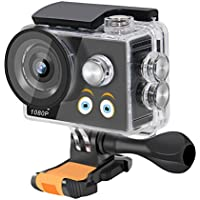LianLe Kids Action Camera HD 1080P Underwater Cartoon Sports Camera for Children
