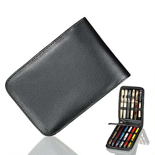 Fountain Roller Holder Black Leather product image