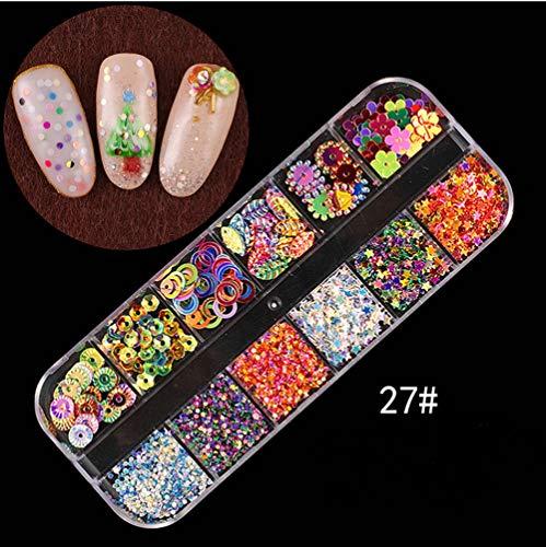 (Nail Art Tools Decoration Manicure Pedicure Tool Set Kit Nail Stickers, Nail Beads Rhinestones Stone Gold Metal Studs)