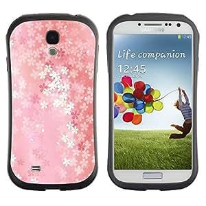 Fuerte Suave TPU GEL Caso Carcasa de Protección Funda para Samsung Galaxy S4 I9500 / Business Style Floral pattern