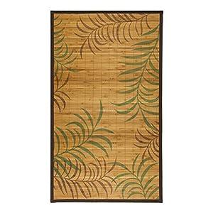 MonBeauTapis Tapis 120 x 70 cm, Bambou, Naturel, 120x70x10 cm