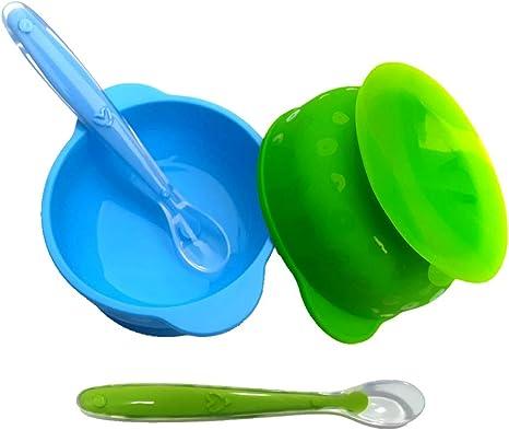 Tazones Silicona con ventosa para Bebés o Niños infantil,ventosa ...