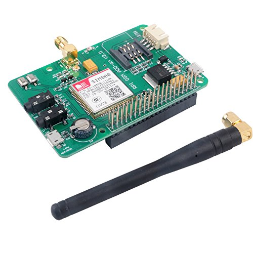 SIM800 Module GSM GPRS Expansion Board UART V2.0 Quad-Band 850/900/1800/1900 MHz for Raspberry Pi Geekstory