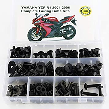 Xitomer Universal Fairing Bolt Kits Fasteners Fit for YAMAHA YZF R6 XJR1300 MT-25 MT-03 MT-01 Black YZF R1 R125 R3 FZ1S MT-10 V-MAX