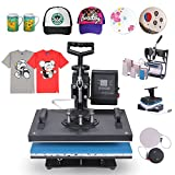 Happybuy 8 in 1 Heat Press Machine 12 X 15 Inch 360 Degree Swing-away Heat Press Multifunction Sublimation T Shirt Press Machine Transfer Printer for Plate Mug Cup Hat (8 in 1 Swing-away)