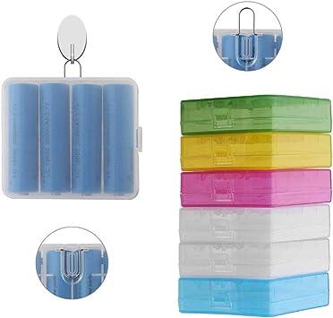 DELSEN 6 Piezas 18650 dedicadas plástico Batería Caja Batería Box (4Células): Amazon.es: Electrónica