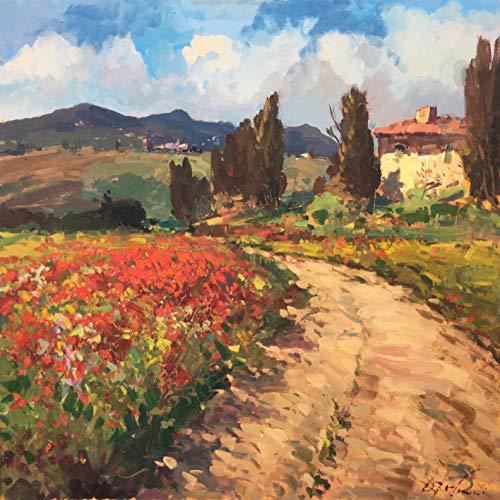 Tuscany Landscape Painting on Canvas 40